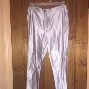 Silver High Waisted Pants