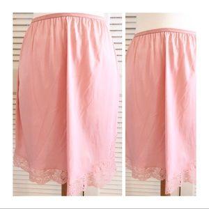 Sweet Pink Half Slip, Vintage Lingerie, Slip