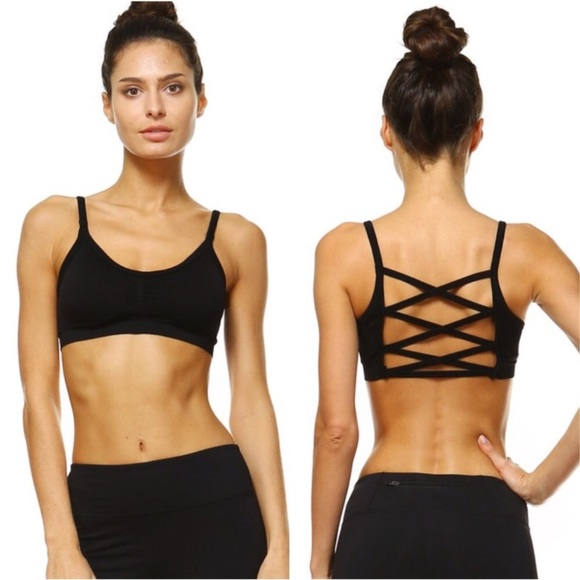 1335b934cf Black Crisscross Back Sports Bra. Boutique. Twilight Gypsy Collective