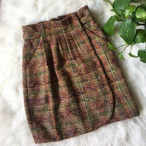 Anthropologie Odille tweed skirt