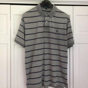 Men's striped Ralph Lauren polo L