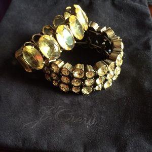 J crew yellow crystal bracelets