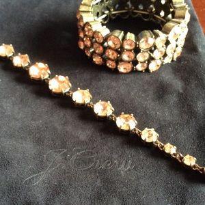 J crew peach stone cuff bracelets