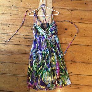 Colorful scrappy dress