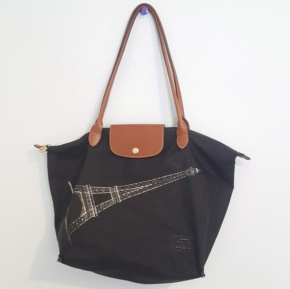 Longchamp Handbags - SALE Longchamp le pliage tour Eiffel tote 0d085d693920d