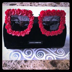 Dolce & Gabbana Rose Square Oversized Sunnies 🌹