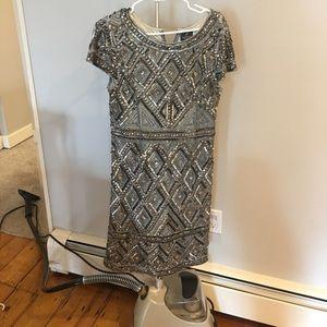 Sliver sequins cocktail dress