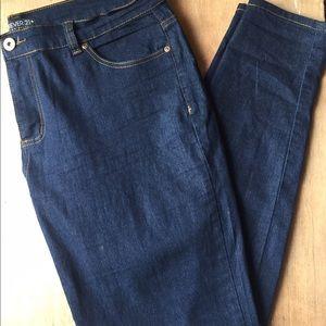 Forever 21. Dark blue jeans.