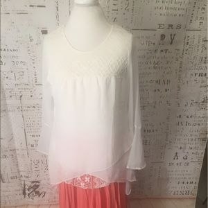 NWT Romantic, Ethereal White Layered Blouse