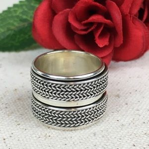 Jewelry - Wide Double Spinner Sterling Silver Ring