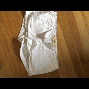White Hollister short shorts