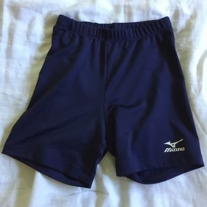 Navy spandex/ compression shorts! Gently used