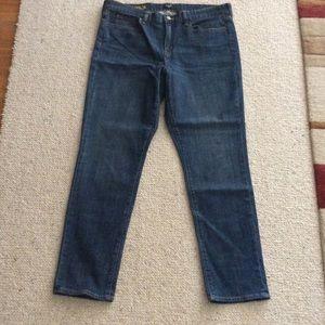 "J crew size 16 toothpick jeans 33"""