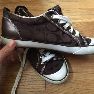 Brown coach Barrett sneakers