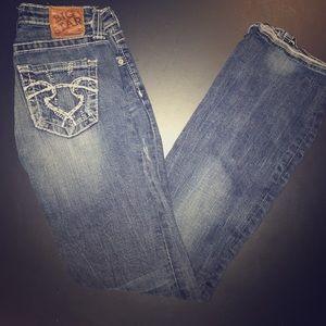 Distressed Big Star Sweet Boot Jeans