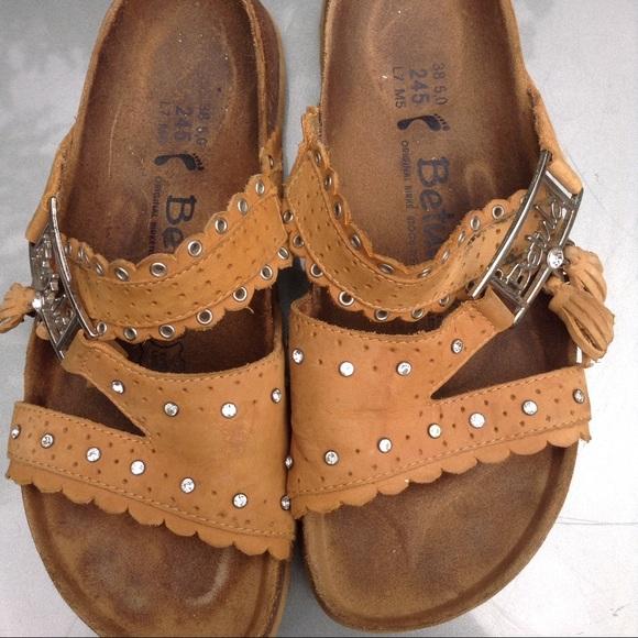 d6fc9f09eb71 Birkenstock Shoes - Betula Tan Bling Birkenstock Sandals 38