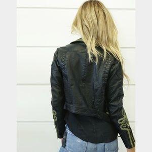 2655fbba71cb1 Free People Jackets   Coats - Free People Bang Bang vegan leather moto  jacket