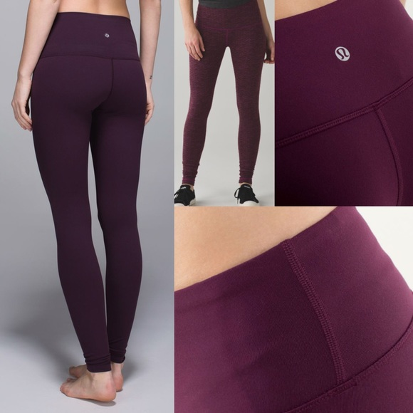 eb7c34b68f lululemon athletica Pants - Lululemon Wunder Under High/Low plum bordeaux