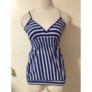 Tops - Blue Striped Cami Top Large