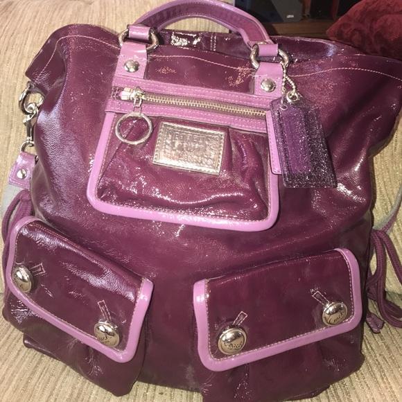 Coach Handbags -  15 off! Coach Poppy Purple Pink Lining Bag 2c34927faf019