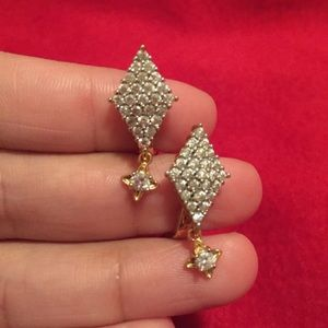 #A102 14kt Gold Over Sterling Silver Earrings