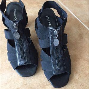 Size 6 black Franco Sarto sandals