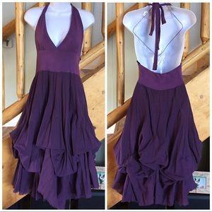 Purple Halter Convertable Dress