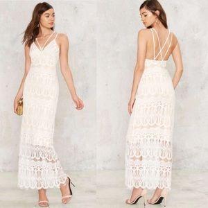 Nasty Gal Emilia lace Maxi Dress