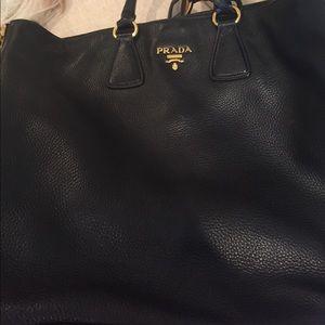 943fac5f3d4d99 Prada Bags   Black Vitello Daino Leather Large Tote   Poshmark