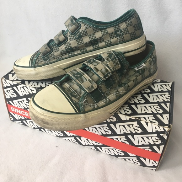Vans Green Checkerboard Velcro Strap