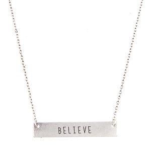 """Jewelry - """"Believe"""" Necklace"""