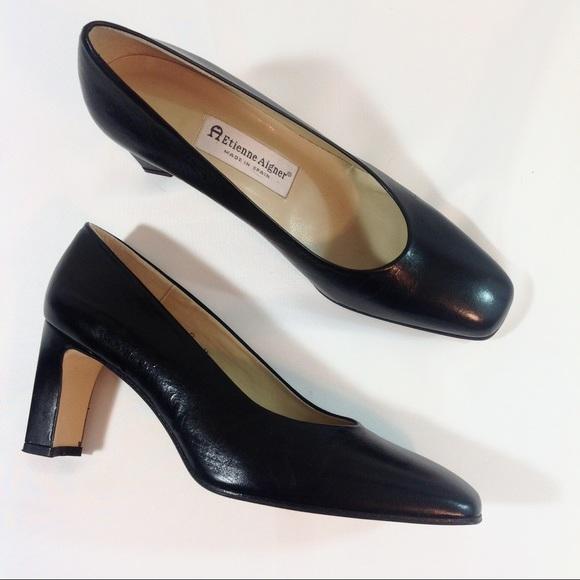 1d41073d78 Etienne Aigner Shoes - Etienne Aigner Black Leather Valencia Pumps Size 8