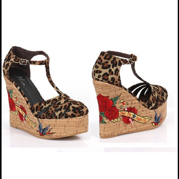 55 ellie shoes ellie 475 rockabilly leopard t