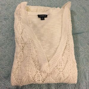White torrid sweater - Size 3