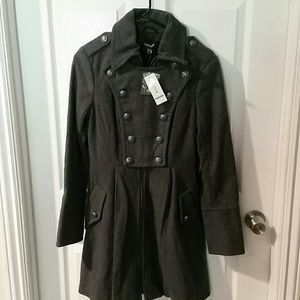 Bebe pleated coat jacket NEW