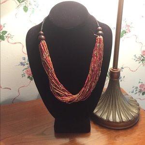 Jewelry - Adjustable Zulu bead necklace