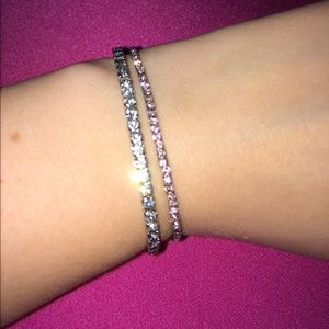 Jewelry - Pink and rhinestone bracelets
