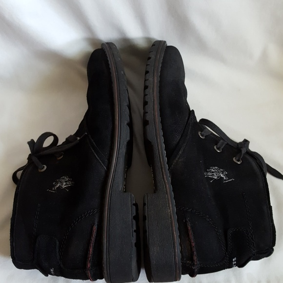 81 u s polo assn other black suede leather boots