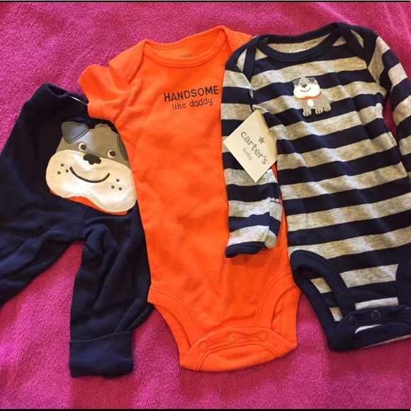 15ca36f0b Carter's Matching Sets | 6 Pic Nwt Newborn Baby Boy Outfits Carters ...