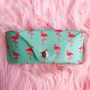 J Crew Flamingo Sunglasses Case