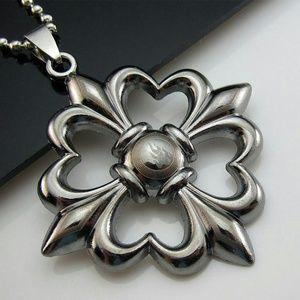 Other - Unisex black titanium Celtic cross necklace.