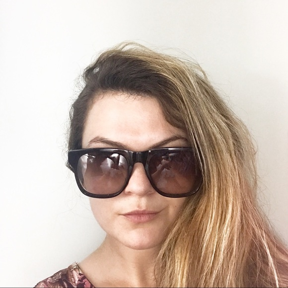 cb3b2b58930b Karen Walker Accessories - Karen Walker Pilgrim oversized black sunglasses