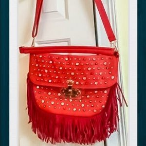NWNT Red Leather cross body bag
