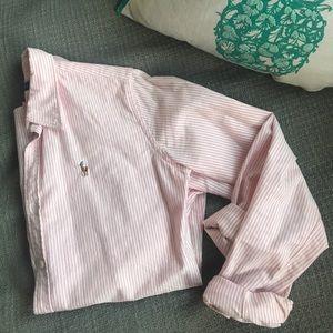 Ralph Lauren oxford button down pink white striped