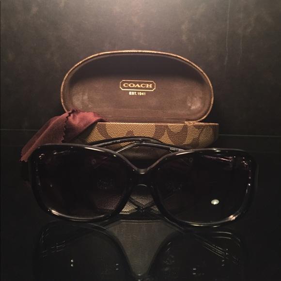 73497f3dbb14d Coach Accessories - Coach HC8009 Black Crystal Sunglasses Like New!