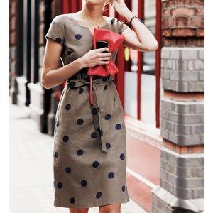 *firm* Boden linen cotton polka dot dress