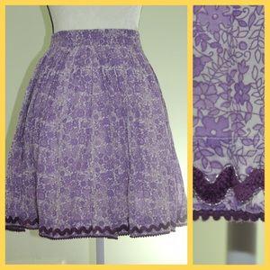 EUC Cupcakes & Pastries Lavender Gauzy Skirt