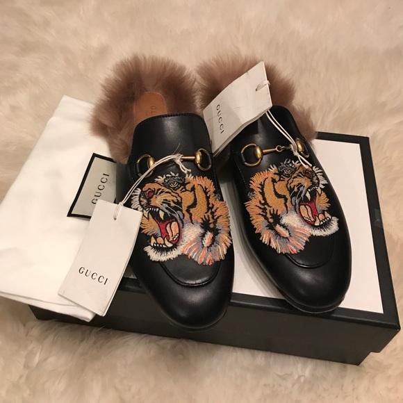 Gucci lamb fur mules cba1c1516f24
