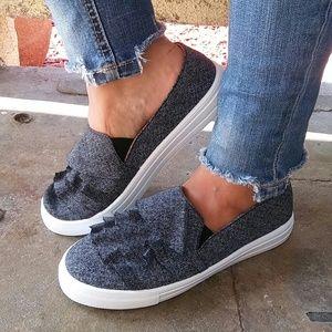LAST PAIR!!//The Nicole// Black Denim sneakers