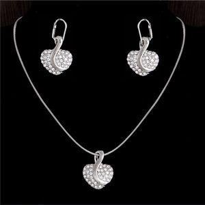 Jewelry - 18k gold filled Austrian crystal Heart jewelry set